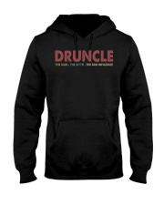 Druncle The man The myth The bad influence Hooded Sweatshirt thumbnail