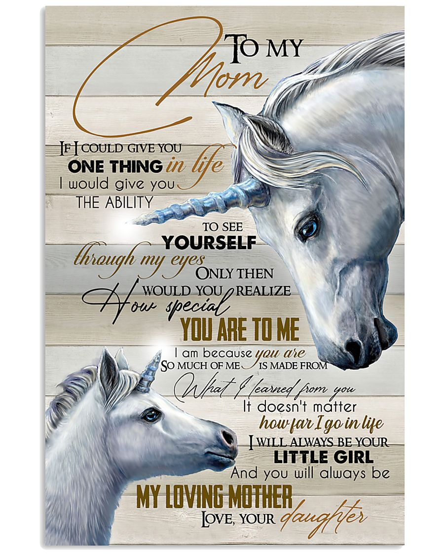 TO MY MOM - UNICORN 16x24 Poster