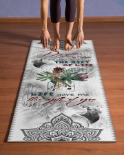 To My Daughter-in-law - Protea Flower  Yoga Mat 24x70 (vertical) aos-yoga-mat-lifestyle-26