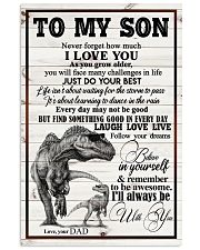 Dad To Son - Never Forget How Much I Love You 16x24 Poster front