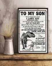 Dad To Son - Never Forget How Much I Love You 16x24 Poster lifestyle-poster-3