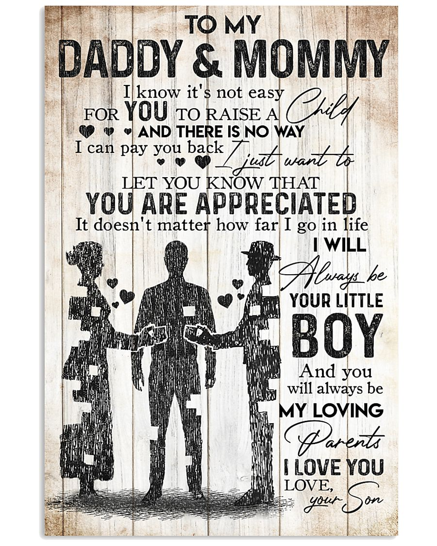 SON TO DADDY AND MOMMY 16x24 Poster
