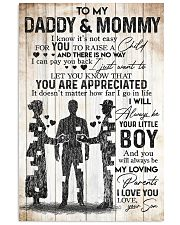 SON TO DADDY AND MOMMY 16x24 Poster front
