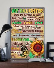 Dad To Daughter - Whenever You Feel Overwhelmed 16x24 Poster lifestyle-poster-2