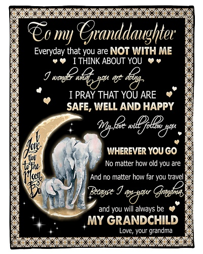 TO MY GRANDDAUGHTER - ELEPHANTS - GRANDMA