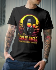 I'm the crazy uncle everyone warned you about Classic T-Shirt lifestyle-mens-crewneck-front-6