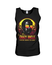 I'm the crazy uncle everyone warned you about Unisex Tank thumbnail