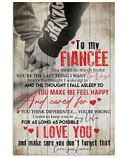 TO MY FIANCE'E 16x24 Poster front