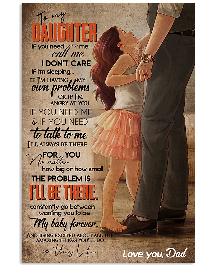 TO MY DAUGHTER - FEET ON FEET - CALL ME 16x24 Poster