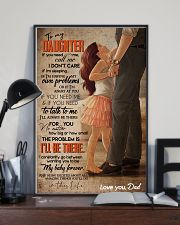 TO MY DAUGHTER - FEET ON FEET - CALL ME 16x24 Poster lifestyle-poster-2