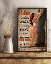 TO MY DAUGHTER - FEET ON FEET - CALL ME 16x24 Poster lifestyle-poster-3