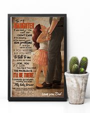 TO MY DAUGHTER - FEET ON FEET - CALL ME 16x24 Poster lifestyle-poster-8