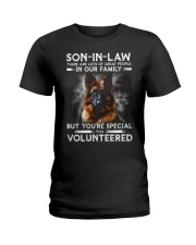 SON-IN-LAW - GERMAN SHEPHERD - YOU VOLUNTEERED Ladies T-Shirt thumbnail