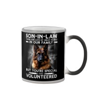 SON-IN-LAW - GERMAN SHEPHERD - YOU VOLUNTEERED Color Changing Mug thumbnail