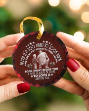 Grandad to Grandson - I Will Always Be There Circle ornament - single (porcelain) aos-circle-ornament-single-porcelain-lifestyles-08