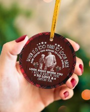 Grandad to Grandson - I Will Always Be There Circle ornament - single (porcelain) aos-circle-ornament-single-porcelain-lifestyles-09