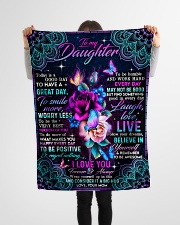 """To Daughter - Roses - Today Is A Good Day To Have Small Fleece Blanket - 30"""" x 40"""" aos-coral-fleece-blanket-30x40-lifestyle-front-14"""