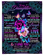 """To Daughter - Roses - Today Is A Good Day To Have Small Fleece Blanket - 30"""" x 40"""" front"""