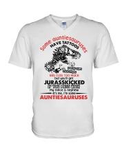 Some auntiesauruses V-Neck T-Shirt thumbnail