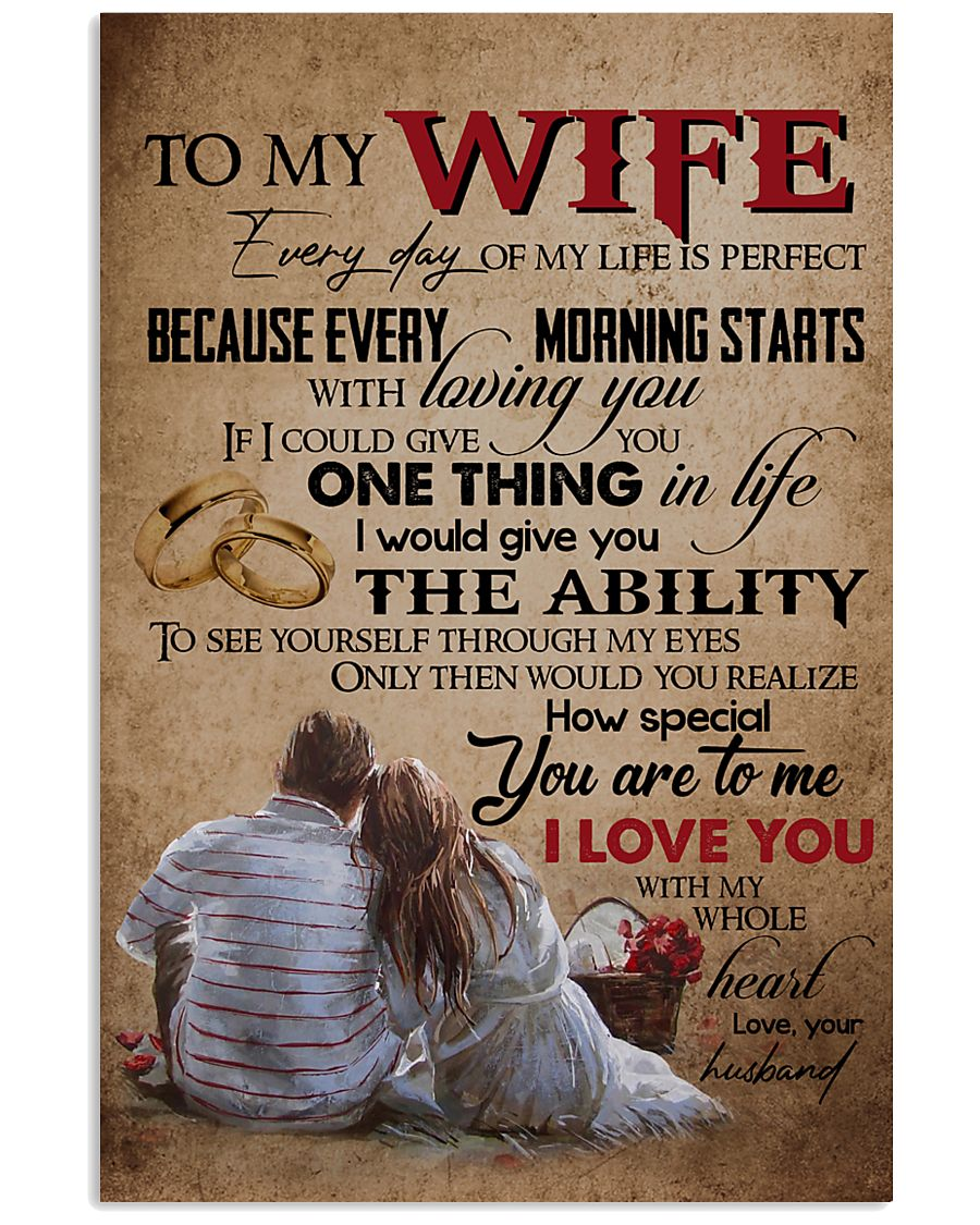 TO MY WIFE - LOVE TREE - I LOVE YOU 16x24 Poster