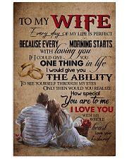 TO MY WIFE - LOVE TREE - I LOVE YOU 16x24 Poster front
