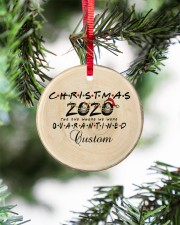 Christmas - 2020 The One Where We Were Quarantined Circle ornament - single (porcelain) aos-circle-ornament-single-porcelain-lifestyles-07