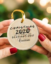 Christmas - 2020 The One Where We Were Quarantined Circle ornament - single (porcelain) aos-circle-ornament-single-porcelain-lifestyles-08