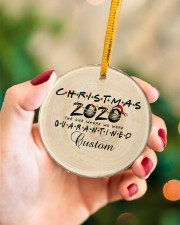 Christmas - 2020 The One Where We Were Quarantined Circle ornament - single (porcelain) aos-circle-ornament-single-porcelain-lifestyles-09