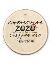 Christmas - 2020 The One Where We Were Quarantined Circle ornament - single (porcelain) front