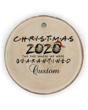Christmas - 2020 The One Where We Were Quarantined Circle ornament - single (wood) thumbnail