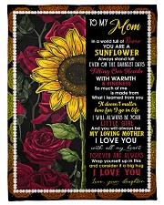 To My Mom - Sunflower - Fleece Blanket Fleece Blanket tile