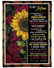 "To My Mom - Sunflower - Fleece Blanket Large Fleece Blanket - 60"" x 80"" front"