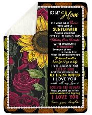 To My Mom - Sunflower - Fleece Blanket Sherpa Fleece Blanket tile