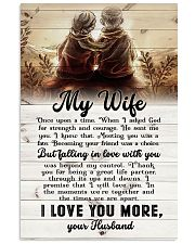 To My Wife - Sitting Together - I Asked God For 16x24 Poster front