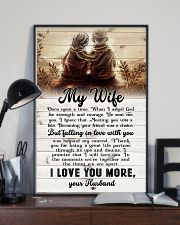To My Wife - Sitting Together - I Asked God For 16x24 Poster lifestyle-poster-2