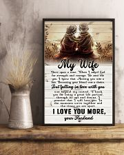 To My Wife - Sitting Together - I Asked God For 16x24 Poster lifestyle-poster-3