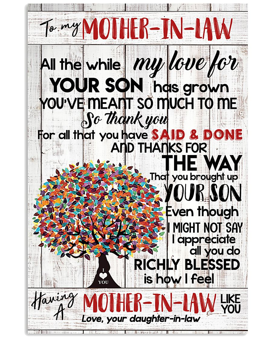 DAUGHTER TO MOTHER-IN-LAW 16x24 Poster