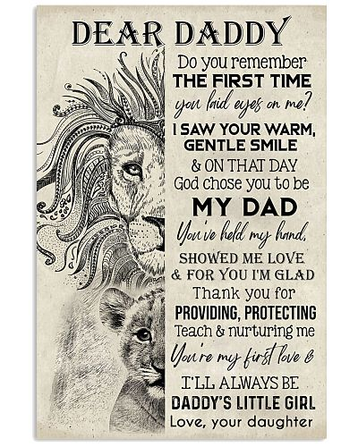TO MY DAD - LION - DADDY'S LITTLE GIRL
