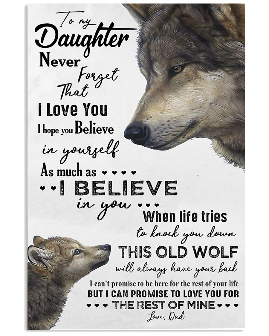 TO MY DAUGHTER - WOLF - OLD WOLF 16x24 Poster
