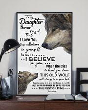 TO MY DAUGHTER - WOLF - OLD WOLF 16x24 Poster lifestyle-poster-2