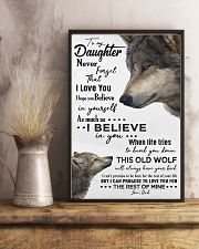TO MY DAUGHTER - WOLF - OLD WOLF 16x24 Poster lifestyle-poster-3