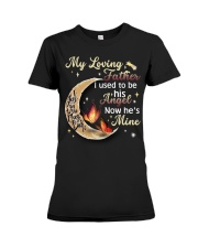 MY LOVING FATHER - BUTTERFLY - ANGEL Premium Fit Ladies Tee thumbnail