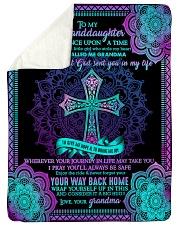 "Grandma to Granddaughter - God Sent You In My Life Large Sherpa Fleece Blanket - 60"" x 80"" thumbnail"