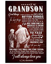 To Grandson - I Believe You Can Overcome - Poster 16x24 Poster front