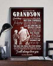 To Grandson - I Believe You Can Overcome - Poster 16x24 Poster lifestyle-poster-2