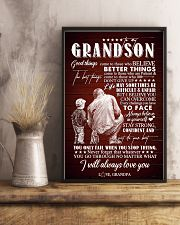 To Grandson - I Believe You Can Overcome - Poster 16x24 Poster lifestyle-poster-3