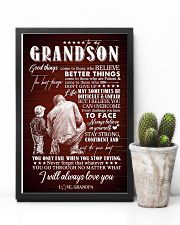 To Grandson - I Believe You Can Overcome - Poster 16x24 Poster lifestyle-poster-8