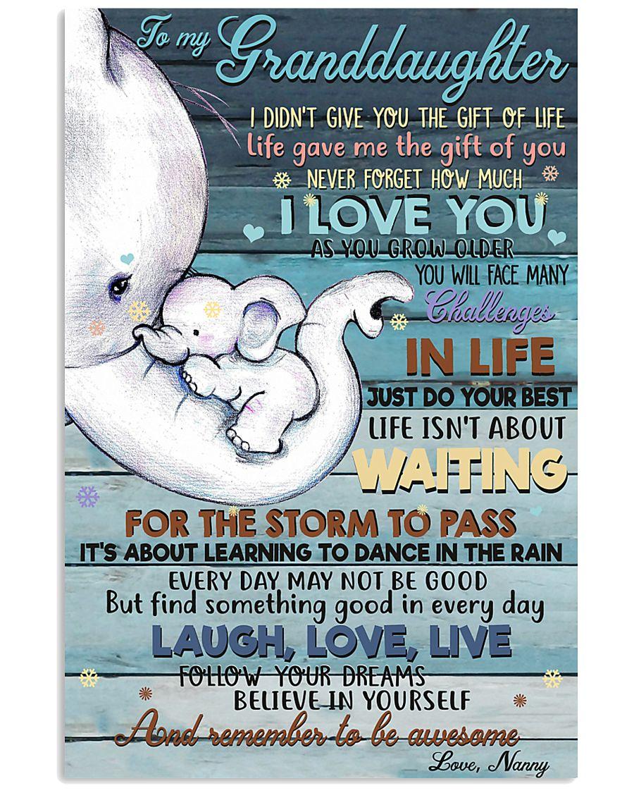 NANNY TO GRANDDAUGHTER 16x24 Poster