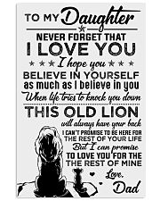 POSTER - TO MY DAUGHTER - LIONS - THIS OLD 16x24 Poster front