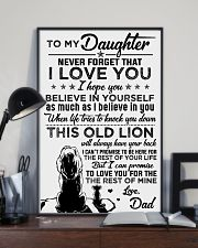 POSTER - TO MY DAUGHTER - LIONS - THIS OLD 16x24 Poster lifestyle-poster-2